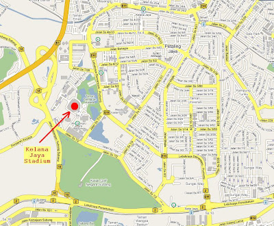 map of Kelana Jaya Stadium
