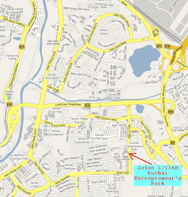 location map Jalan 1/116B Kuchai Entrepreneur's Park off Jalan Kuchai Lama