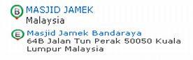 Masjid Jamek identification tags