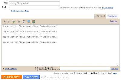 EDIT HTML mode