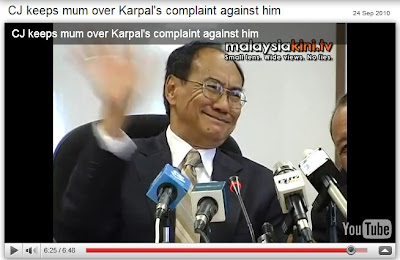 Zaki Azmi Chief Justice cry on hearing Karpal Singh's name