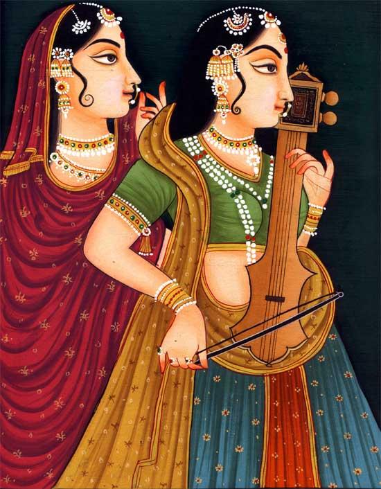 school of Paintings - The region of Rajput paintings developements