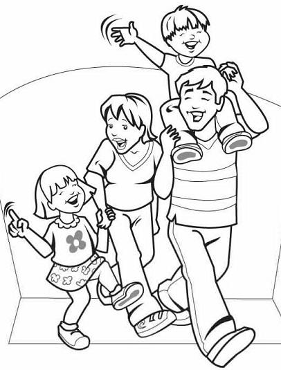 Familia nuclear para colorear en grande - Imagui