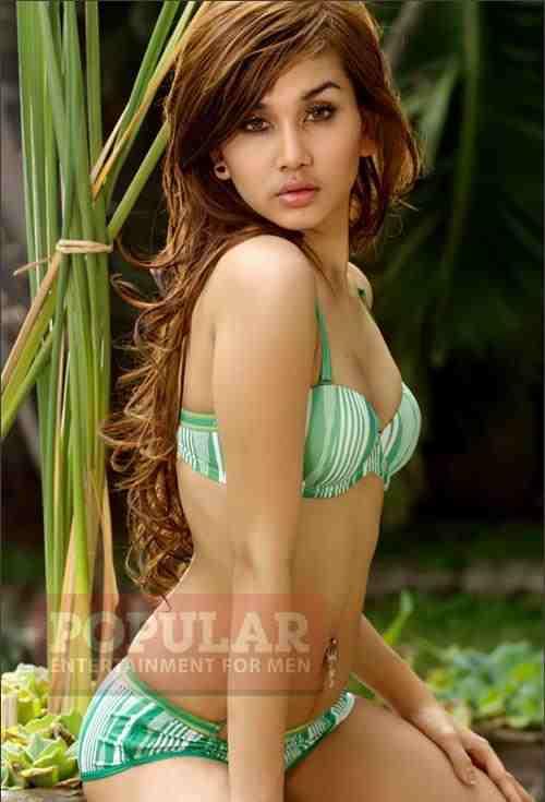 Indonesian bikini models had been