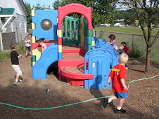 Colored hose defines play area