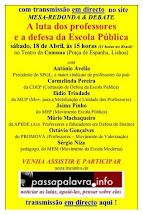 DEBATE: Sábado, 15h-19h, Teatro da Comuna