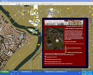 rome antique en 3D, google earth, rome, rome en images, italie