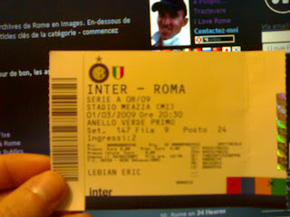 inter milan as roma, billet, rome en images, italie