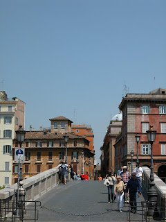 ponte sisto, trastevere, rome, italie