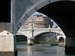pont sant'angelo, rome, italie