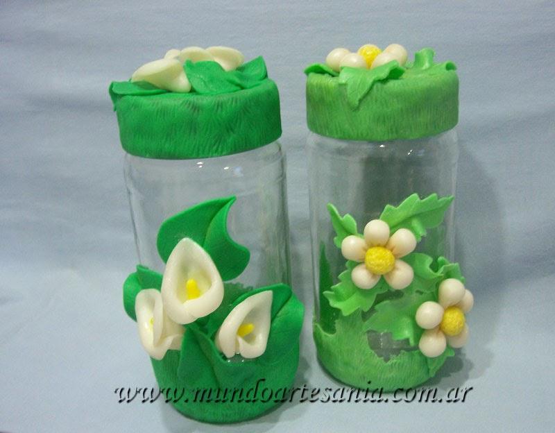 Todo en porcelana fria adornos regalos souvenirs for Frascos decorados para navidad