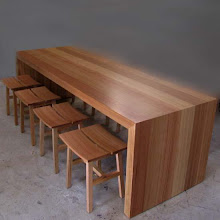Timber Stools and Table