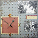 Flourish Square Clock