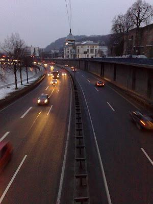 autobahn, dusk