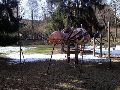 spider, playground,