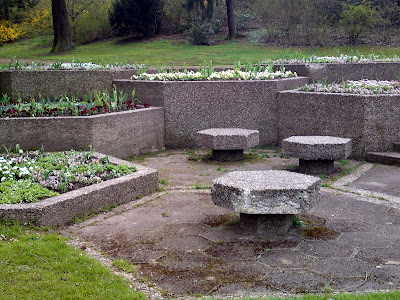 franco-german garden, gardens, flower bed, 