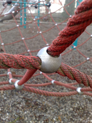metal joint, playground, rope