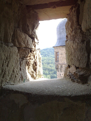 castle, turret, window.