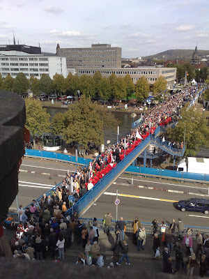 crowds, day of german unity