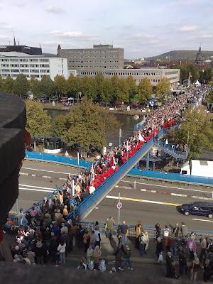 crowds, day of german unity
