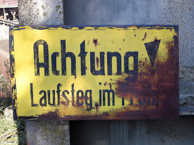 sign, iron works,