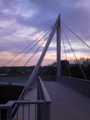 bridge, twilight,