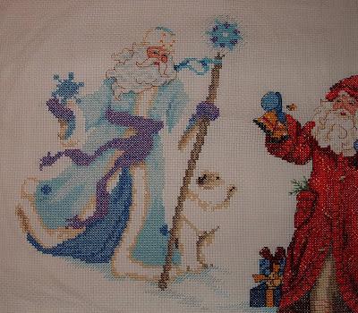 Pale Blue Santa