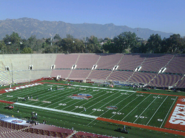 ROSE BOWL FIELD SHOT PRESS BOX LEVEL