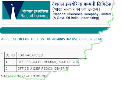 National Insurance Recruitment 2010-2011 Online form
