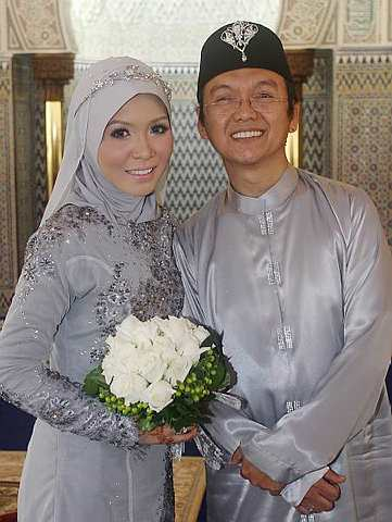 Aziz M. Osman and Puteri Lily Lokman Married