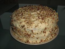 Creamy pecan chocolate cake