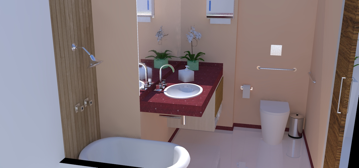 Interiores e Paisagismo Setembro 2010 -> Banheiro Feminino Simples