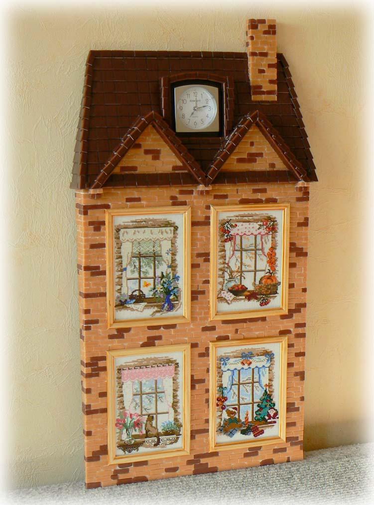 Коробка для денег домик