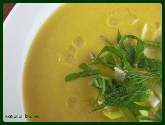 Kahakai Kitchen: Creamy Cauliflower, Fennel, and Leek Soup with Almond ...