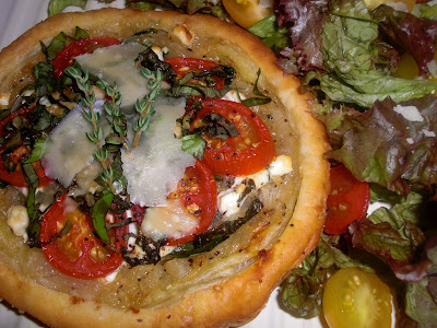 Kahakai kitchen tomato and goat cheese tarts barefoot Ina garten goat cheese tart