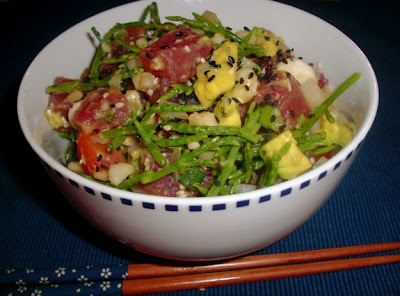 Sea asparagus poke salad (Kahakai Kitchen)