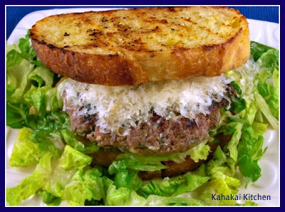 Kahakai Kitchen: Caesar Salad and Flank Steak Burgers with Garlic ...