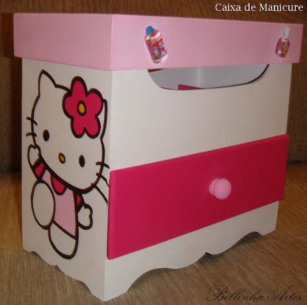 Caixa Manicure Hello Kitty c/ gaveta - R$ 25,00