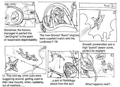 Air combat comic strip@drawnpatrol