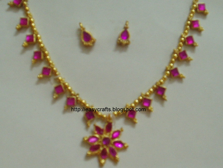 Easy Crafts Explore your creativity Artificial jewellery design