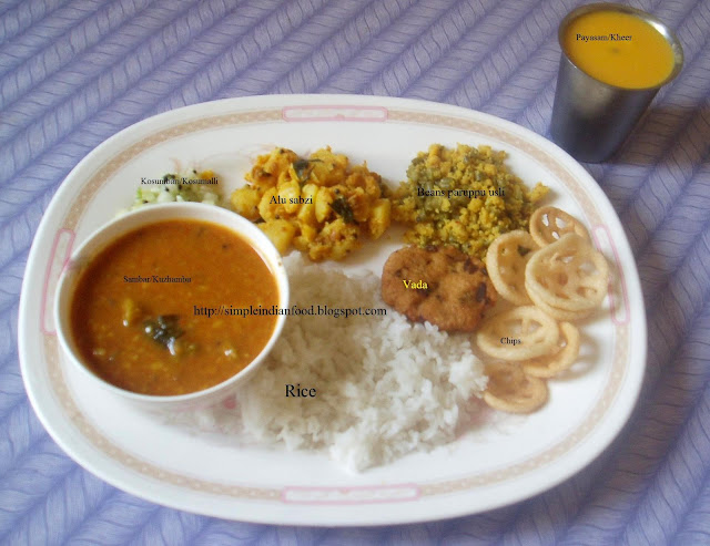 Simple indian food an easy cooking blog south indian marriage thali possible that some item may have been missed oute picture below has some of the items that are served forumfinder Gallery