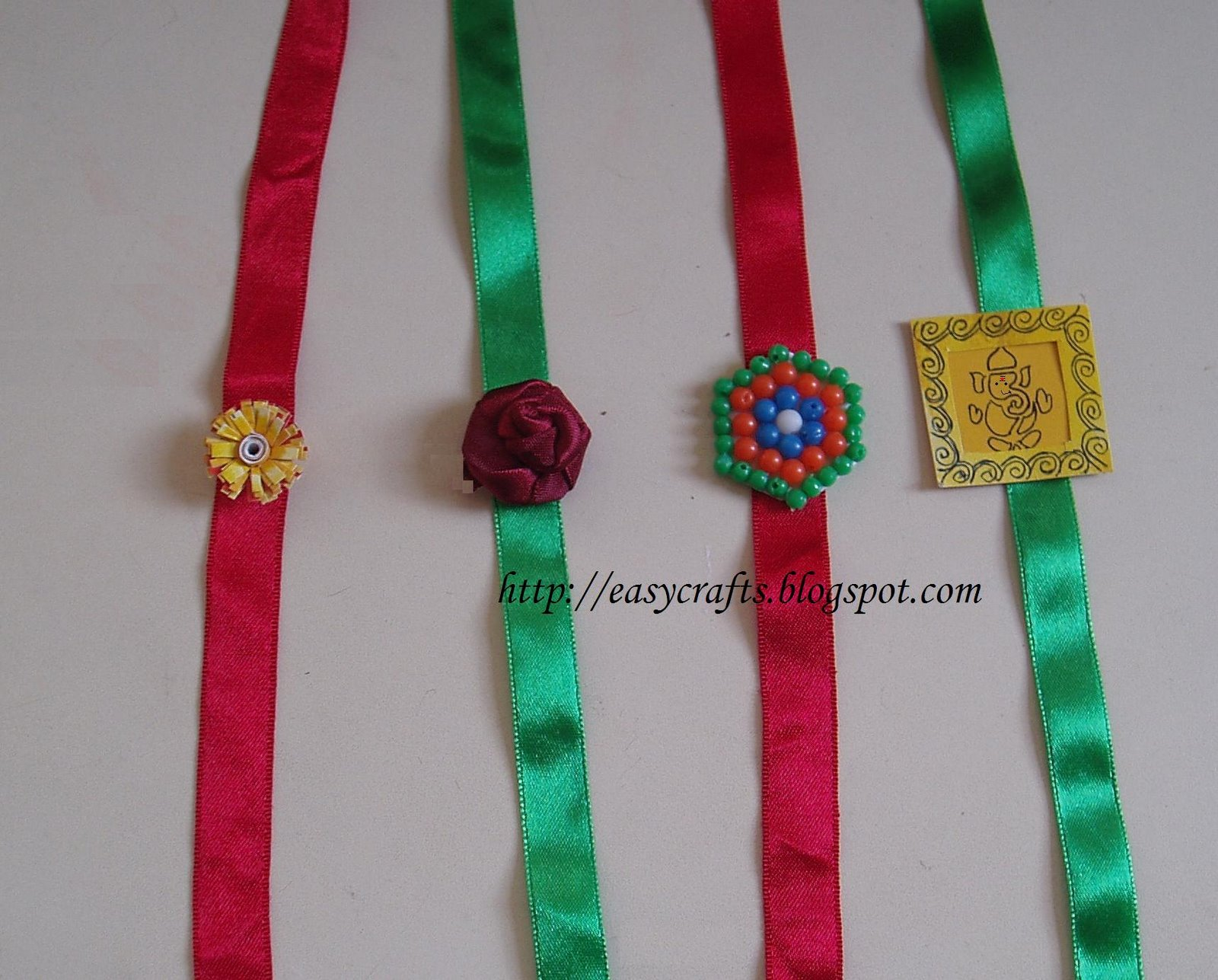 Easy Crafts  Explore your creativity: Handmade Rakhis