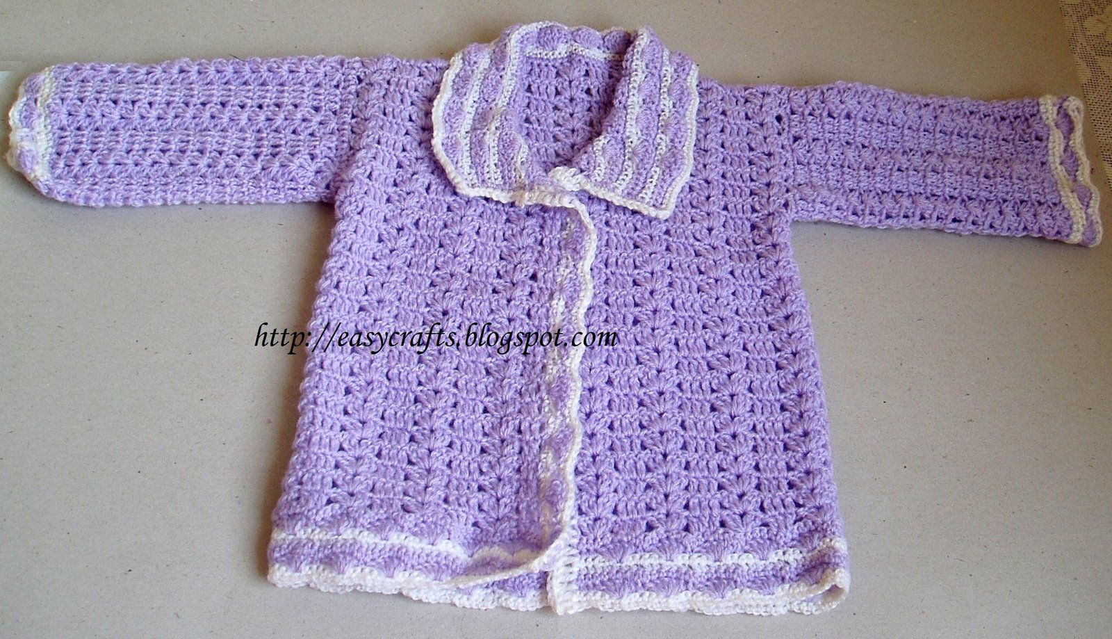 Easy Crochet Baby Sweater Pattern Free : Easy Crafts - Explore your creativity: March 2009