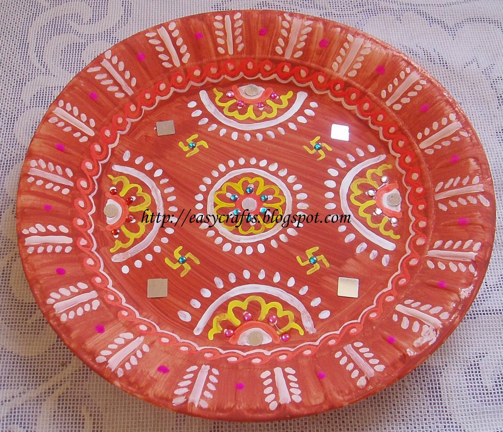 Decorative plate/ Wall hanging  sc 1 st  Easy Crafts - Blogger & Easy Crafts - Explore your creativity: Decorative plate/ Wall hanging