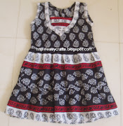 Girl baby dress from leftover cotton dress material (girl baby frock )