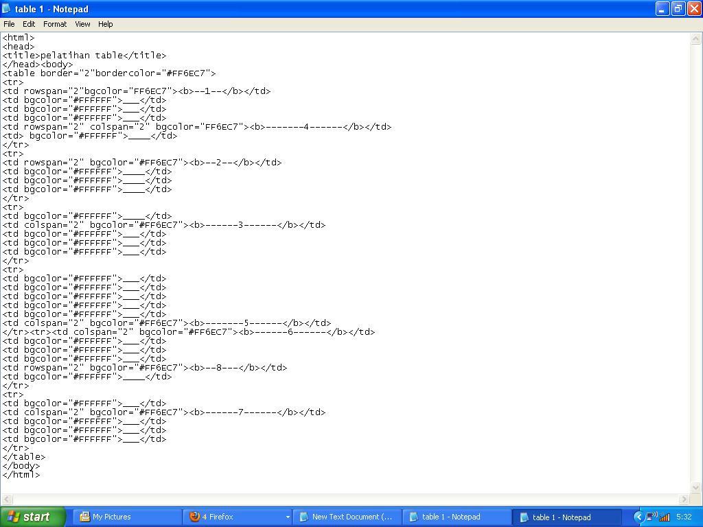 Mystudie penggunaan rowspan dan colspan pada table html for Table rowspan