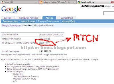 Google Adense Lewat Western Union