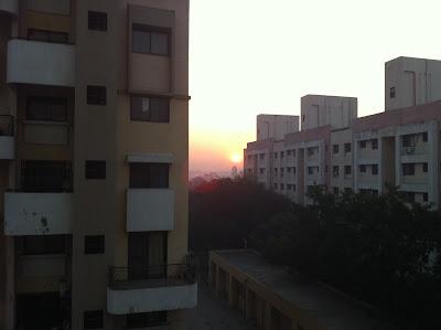 Pune India sunset