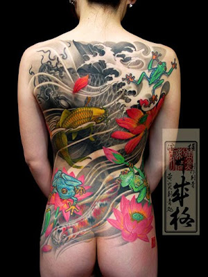 Koi Fish Women Japanese Tattoos