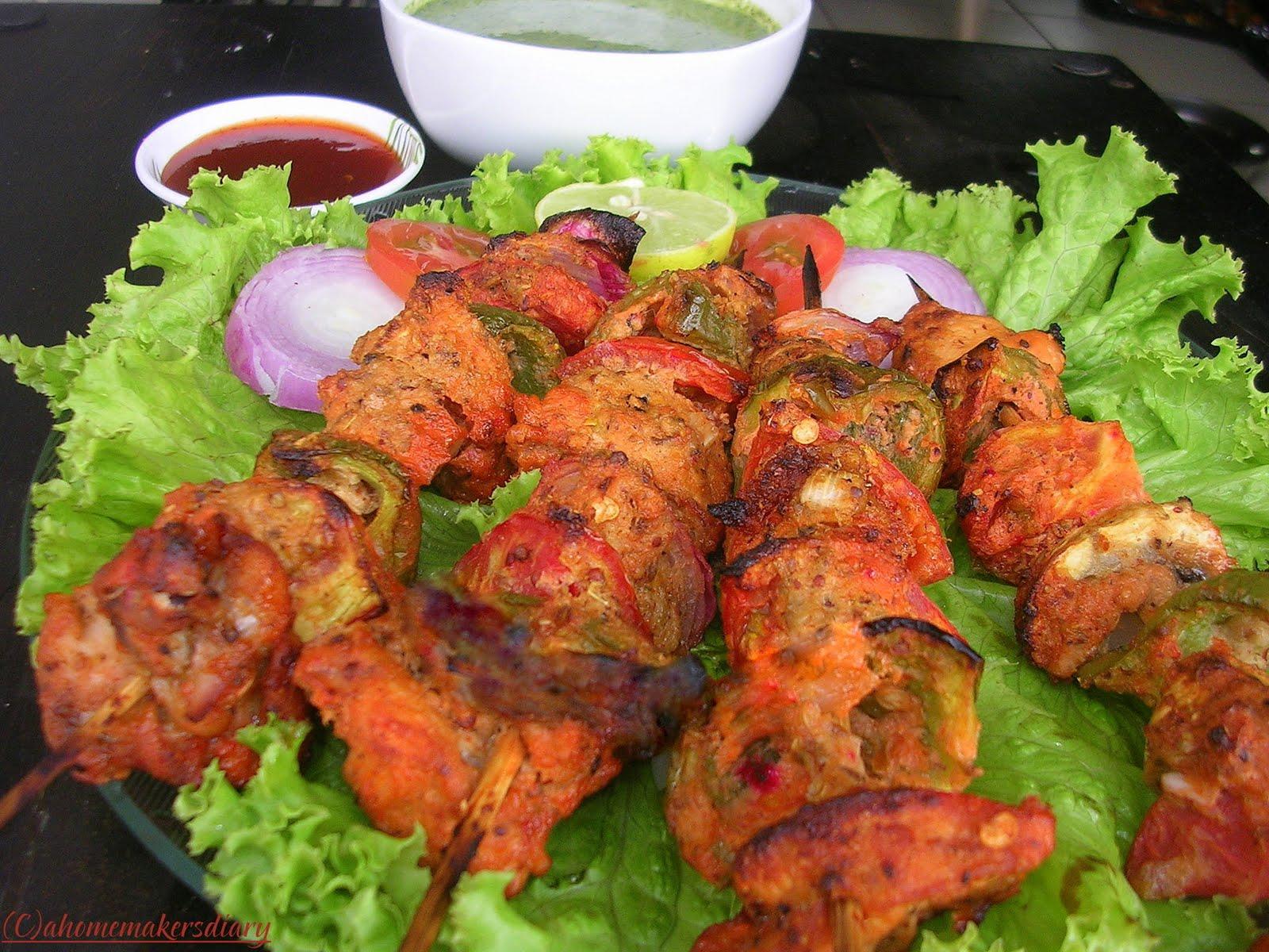 Chicken n Veg Tikka- Tortilla Wraps - A Homemaker's Diary